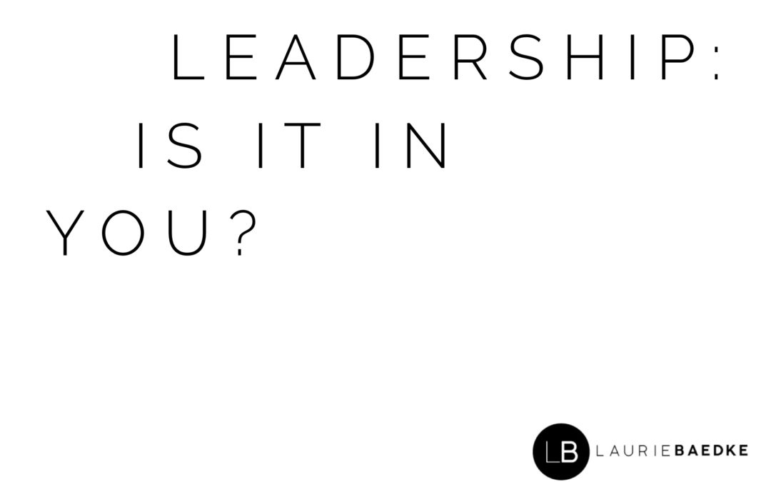Leadership: Is It In You?